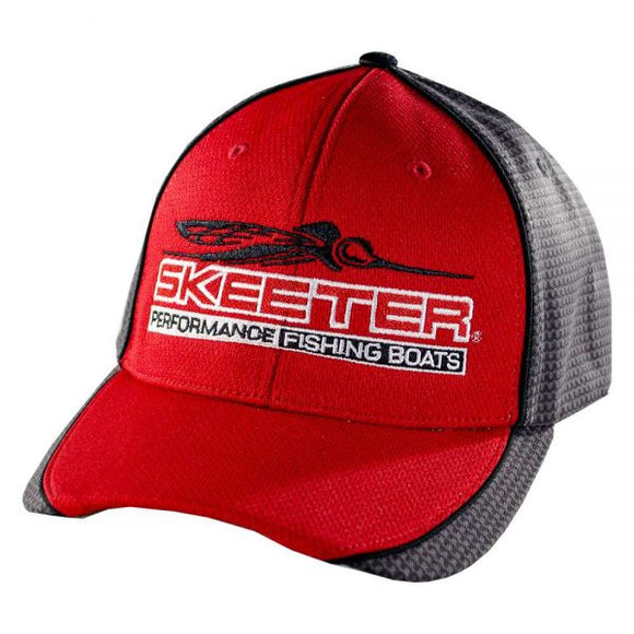 New Authentic Skeeter Richardson Hat  Red/ Black Micro Mesh
