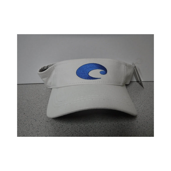 White/ Cotton/ Blue Logo