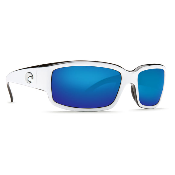 White/Black Frame/ Blue Mirror Lens 580P