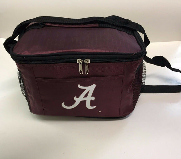 New NCAA Alabama Crimson Tide Insulated Lunch Cooler with Zip Closure