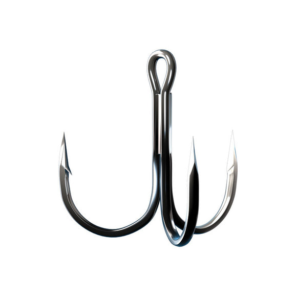 TroKar 2X Strong Round Bend Treble Hook