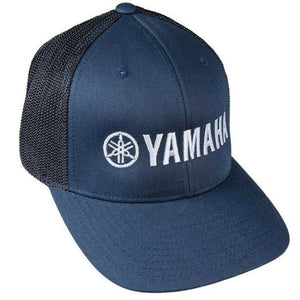 New Authentic Yamaha Mesh Flex Fit Hat Navy with White Logo