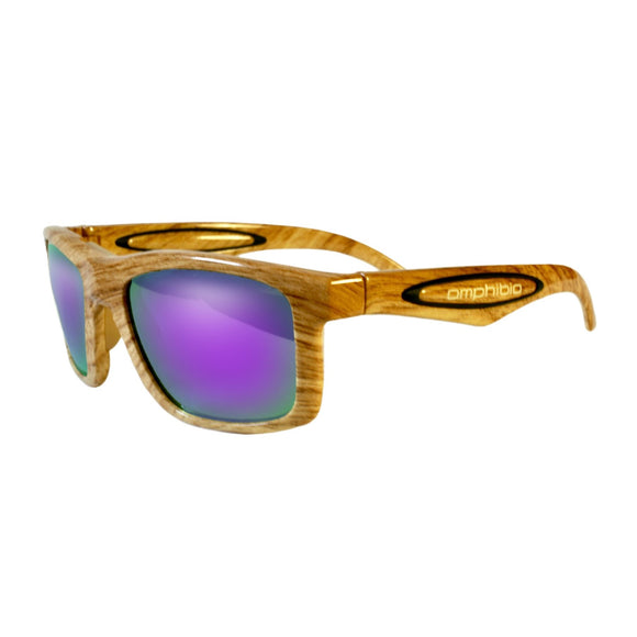 Light Wood Grain Frame with Purple Shock