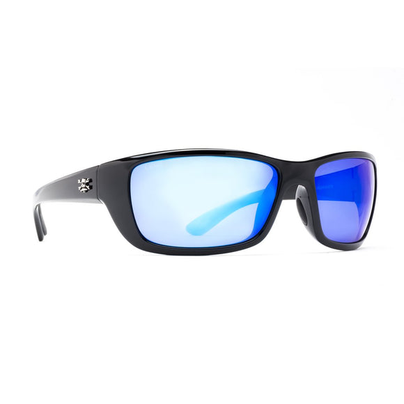 New Authentic Calcutta Bimini Sunglasses Black Frame/ Polarized Blue Mirros Lens