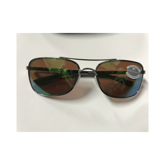 New Authentic Costa Palapa Sunglasses Palladium/ Polarized Green Mirror Lens
