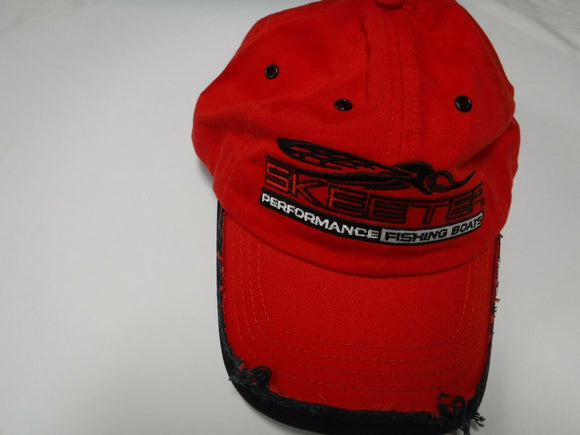 New Authentic Skeeter Richardson Hat  Red Distressed