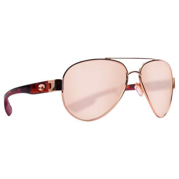 Shiny Brushed Gold Frame w/Rose Arms Copper Silver Mirror Lens
