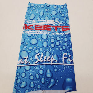 New Skeeter Sun Shield Gaiter Mask With Logo/Water Drops Blue