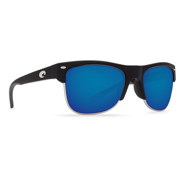 New Authentic Costa Pawley Sunglasses Matte Black Frame/ Blue Mirror Glass W580