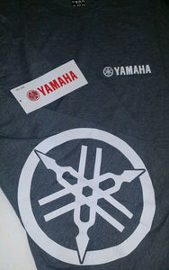 New Yamaha T-Shirt Short Sleeve Gray with White Logo Large