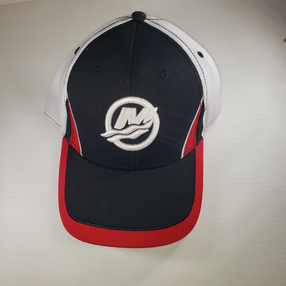 Authentic Mercury Marine Hat Black/ White Cool Dry Mesh/ RPM