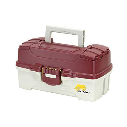 Plano Single Tray Tackle Box Red/White