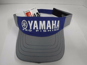 New Authentic Yamaha Pro Fishing Adjustable Visor- Blue with Gray Bill and Band
