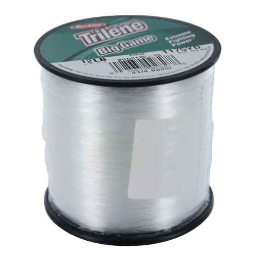 Berkley Trilene Big Game Mono Line 1/4 lb Spool Clear (10-30lb)