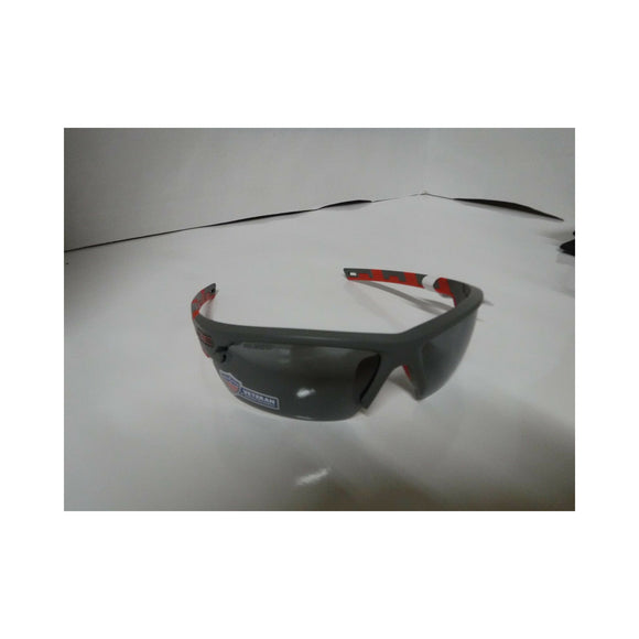 Gray and Red Frame/ Smoke Lens