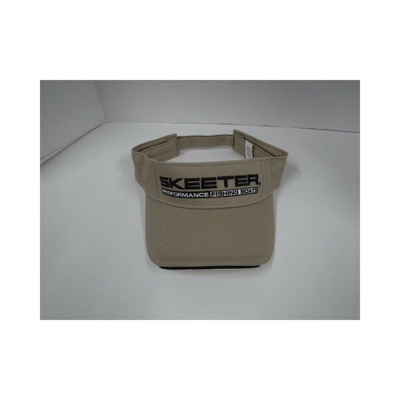 New Authentic Skeeter Visor Adjustable  Beige/ Chino Twill Cotton