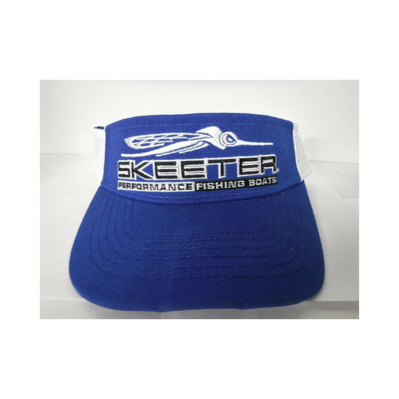 New Authentic Skeeter Visor Navy Blue/ White Mesh Back