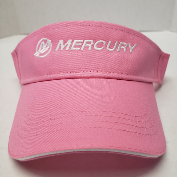 New Authentic Mercury Marine Visor Ladies Sandwich/ Pink/ White Logo