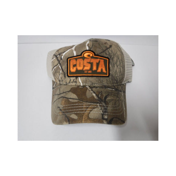 New Authentic Costa Hat Adjustable Realtree Extra Camo with Stone Logo