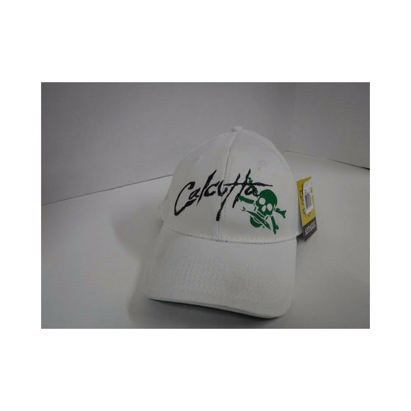 New Authentic Calcutta White Hat Flex-Fit Calcutta On Front Green Logo