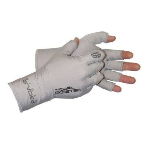 New Authentic Skeeter Fingerless Fishing Gloves Large