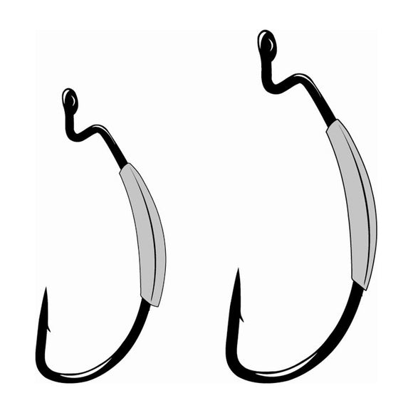 Gamakatsu Superline Worm Hook, Offset Shank EWG- NS Black