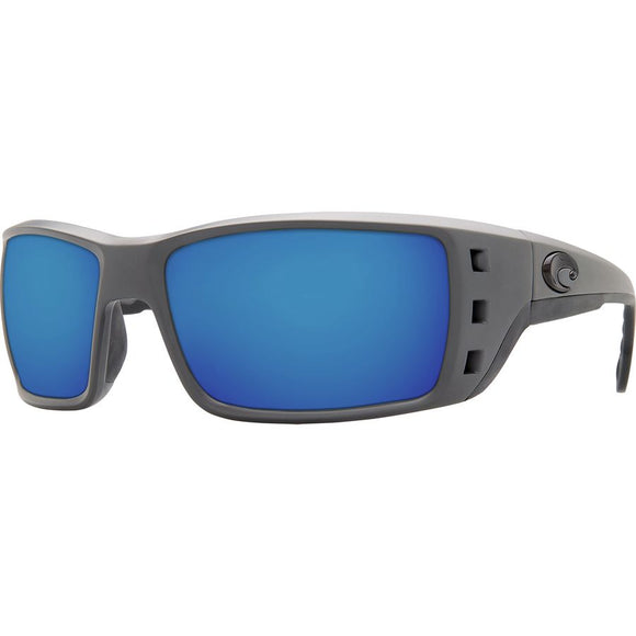 New Authentic Costa Permit Matte Gray/Blue Mirror 580P