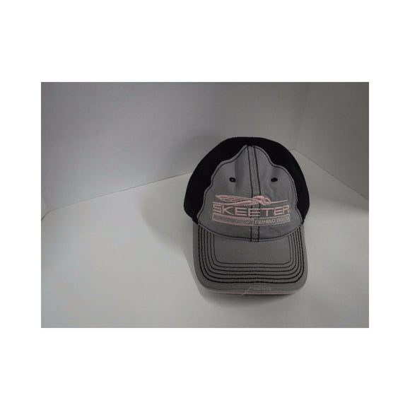 New Authentic Skeeter Richardson Hat Ladies Distressed/ Front Gray/ Back Black/ Pink Logo