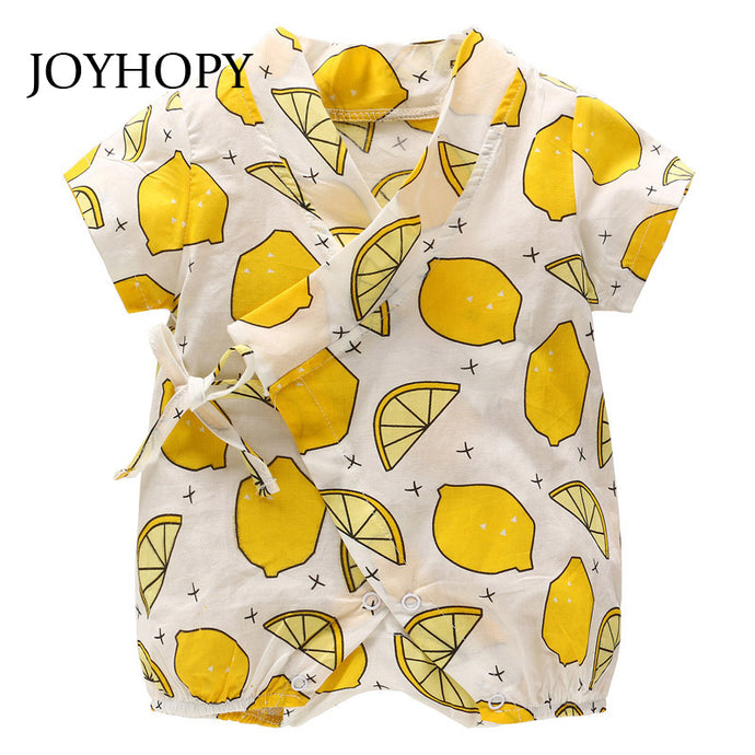 Children rompers for unisex babies/toddlers Fruit Print