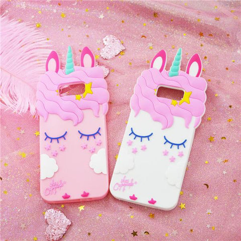 pretty nice dc92d 485d9 3D Unicorn Samsung Phone Case