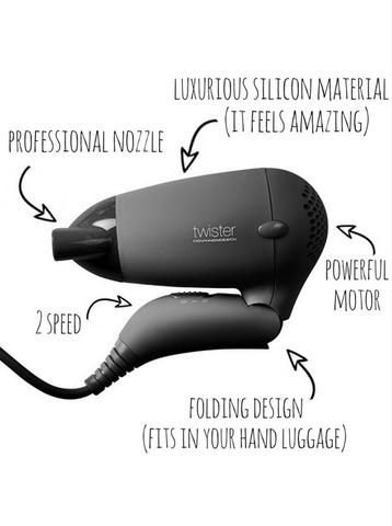 UKI TWISTER TRAVEL COMPANION HAIR DRYER