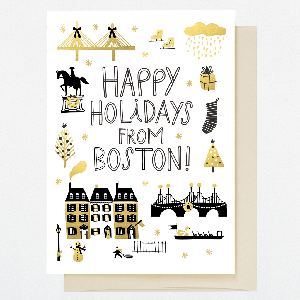 HL1253 BOSTON HOLIDAY DOODLES