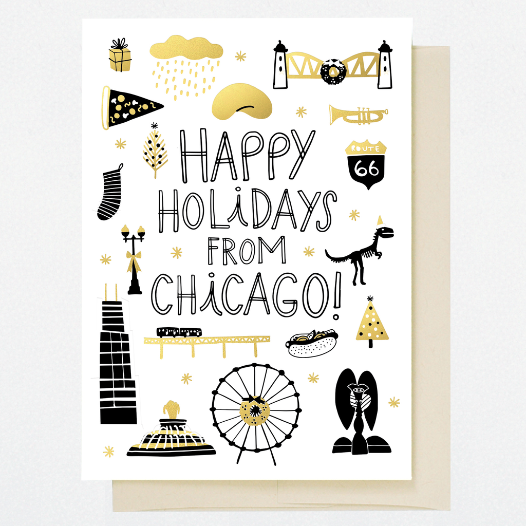 HL1252 CHICAGO HOLIDAY DOODLES