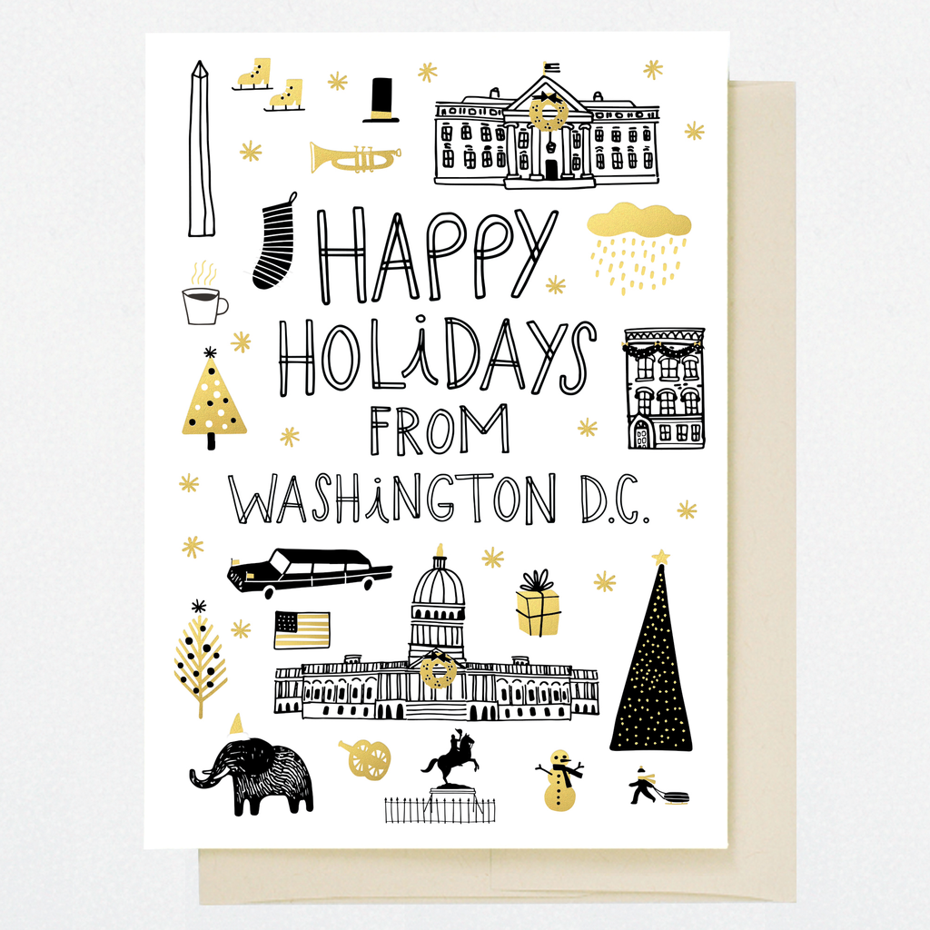 HL1254 WASHINGTON D.C. HOLIDAY DOODLES