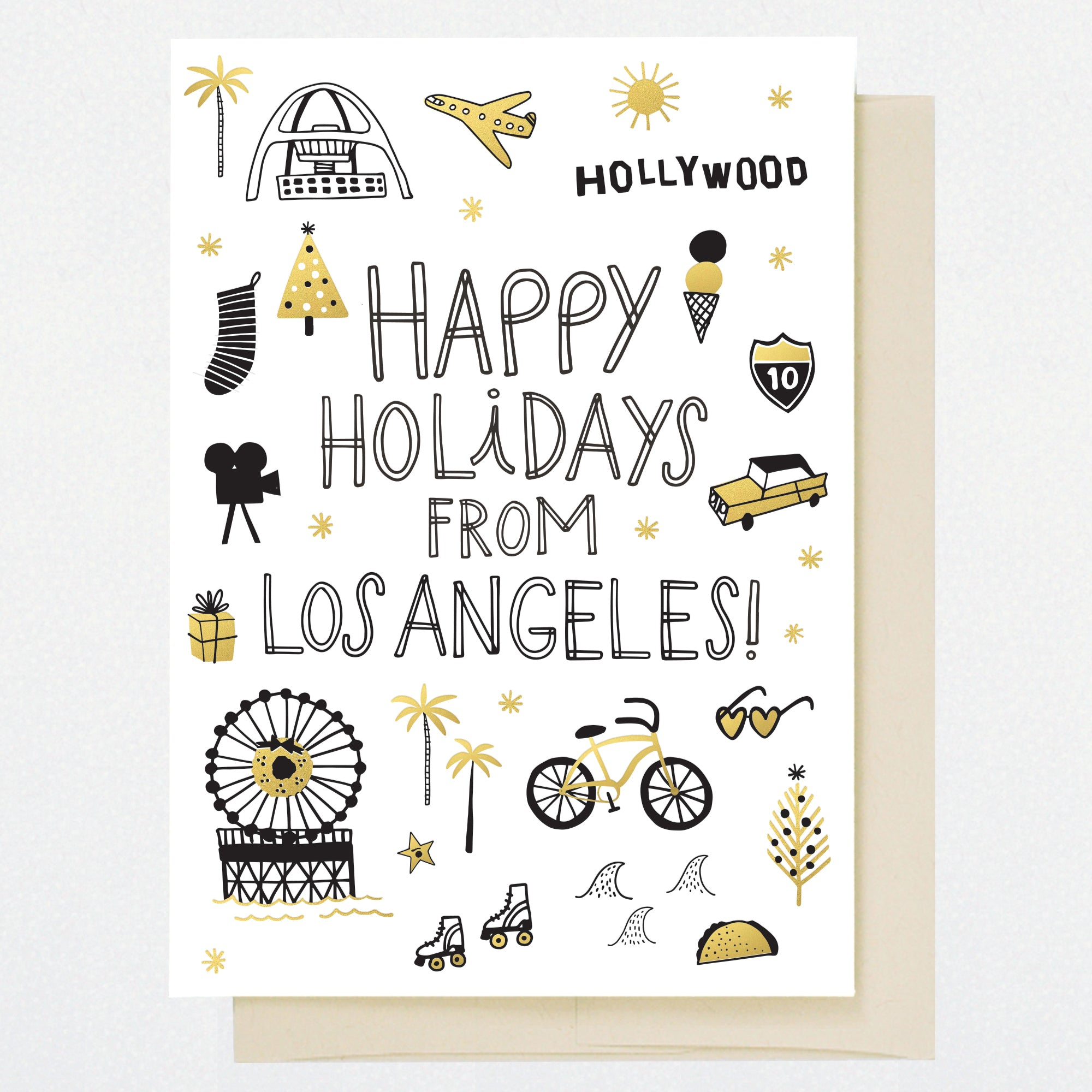 Los Angeles Holiday Greeting Card Hellolucky