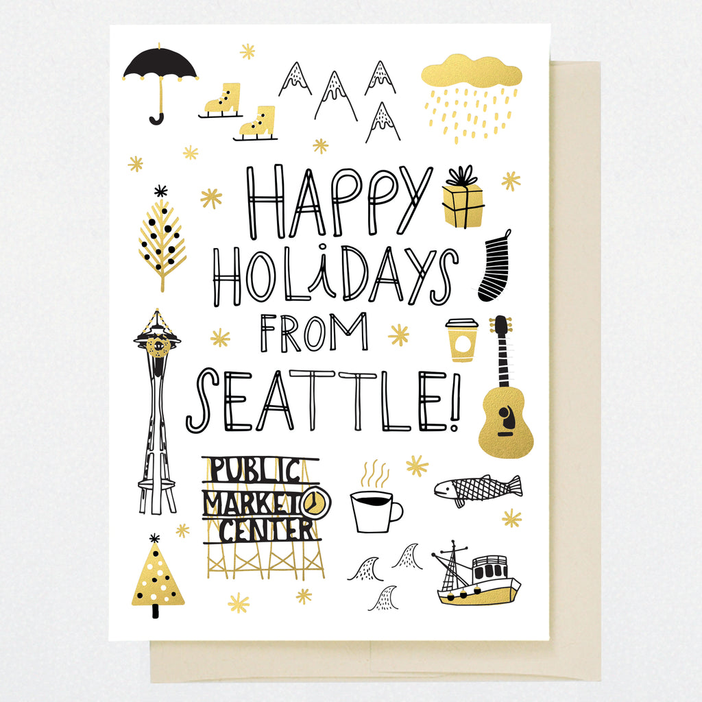 HL1256 SEATTLE HOLIDAY DOODLES