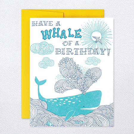 HL812 WHALE OF A BIRTHDAY