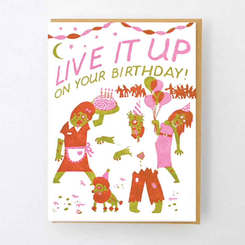 Girlzombieauthors Happy Birthday Free Zombie Story: Love And Friendship Greeting Card