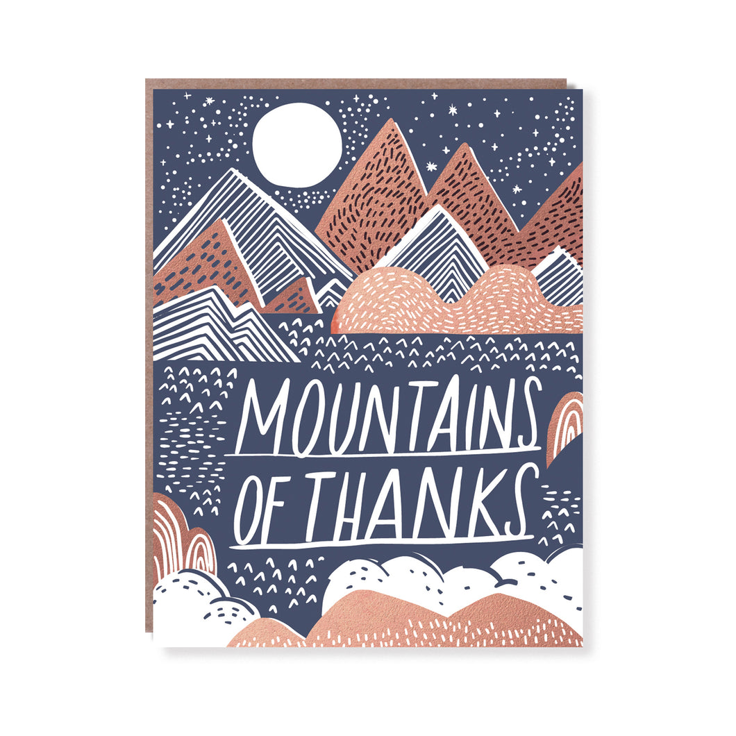MOUNTAINS OF THANKS