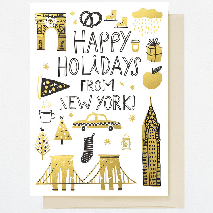HL1251 NEW YORK HOLIDAY DOODLES