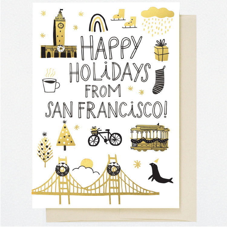HL1250 SAN FRANCISCO HOLIDAY DOODLES