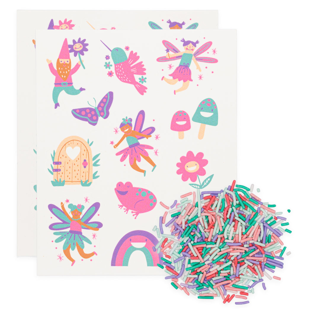 FAIRY FUN EDIBLE STICKIE AND SPRINKLES KIT