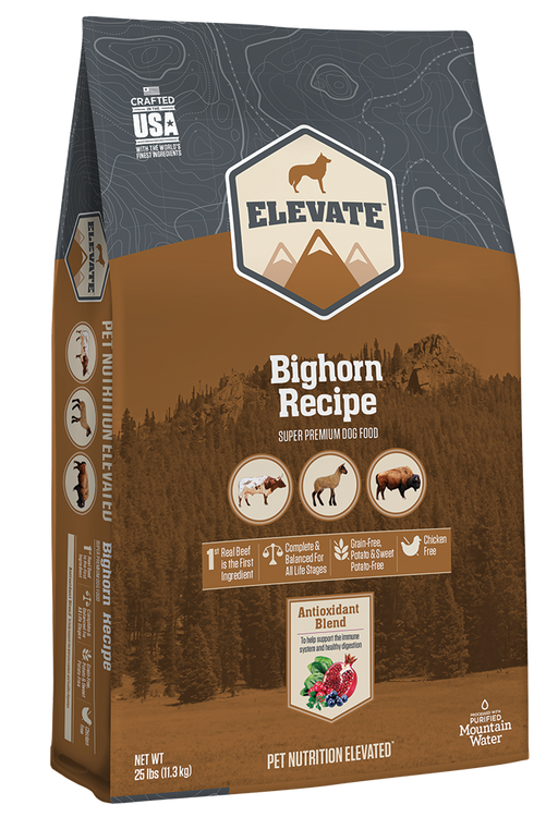 Elevate™ Bighorn Recipe Super Premium Dry Dog Food