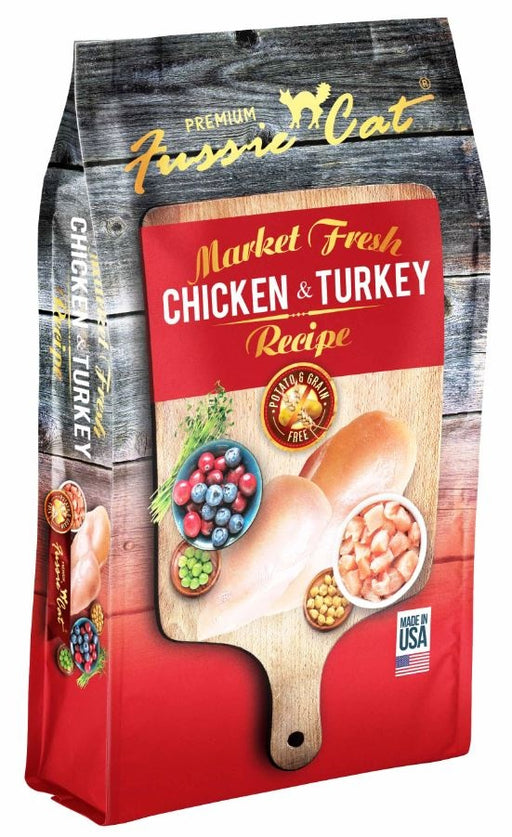 Fussie Cat Market Fresh Grain Free Chicken And Turkey Recipe Dry Cat Food