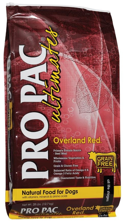PRO PAC Grain Free Ultimates Overland Red Dry Dog Food