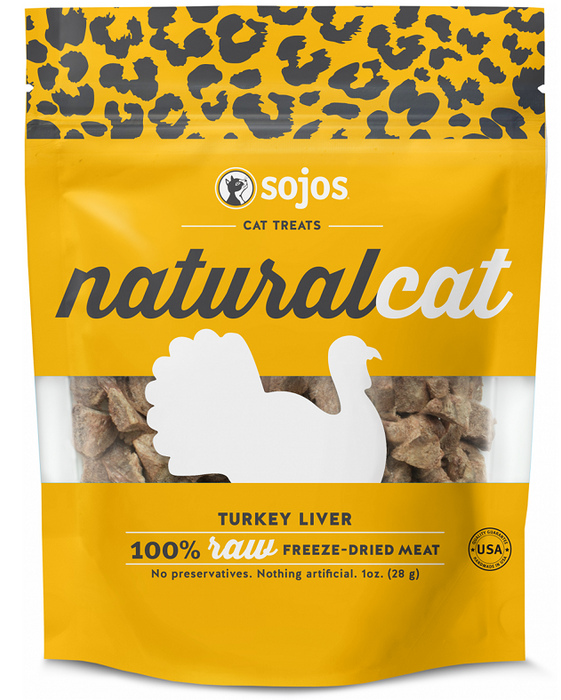Sojos Natural Cat Turkey Liver Freeze Dried Cat Treats