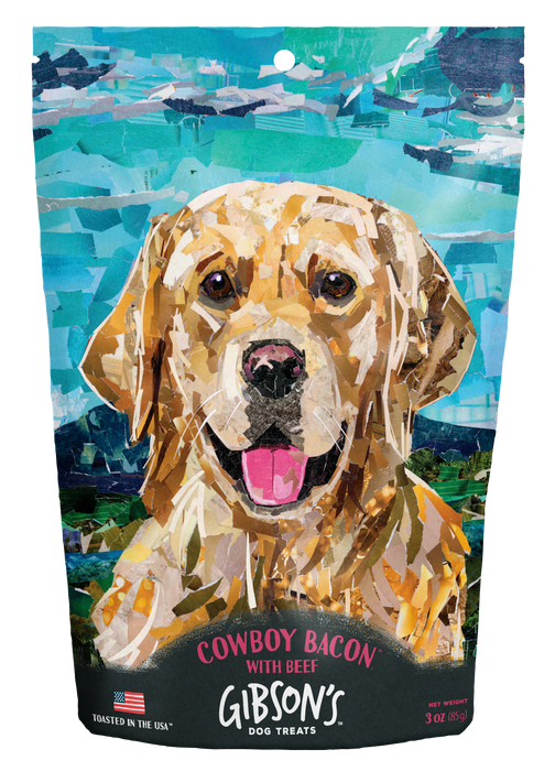 GIBSON'S COWBOY BACON WITH BEEF - JERKY DOG TREATS