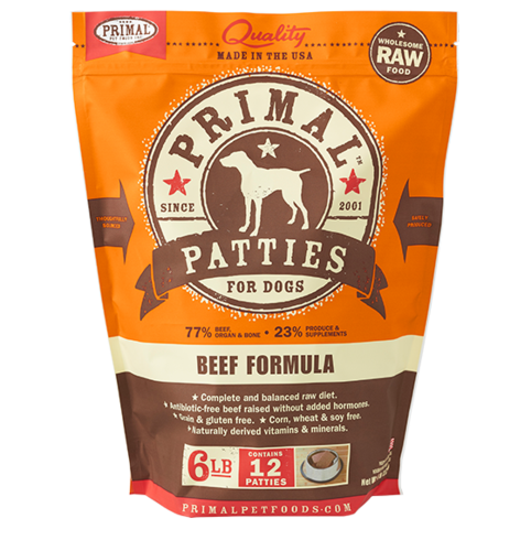 Primal Raw Frozen Beef Formula for Dogs