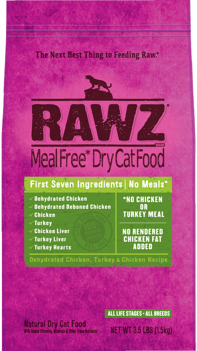 Rawz Chicken and Turkey Meal Free for Cats