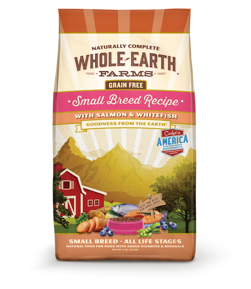 Whole Earth Farms Grain Free Recipe Small Breed Salmon and Whitefish Dry Dog Food